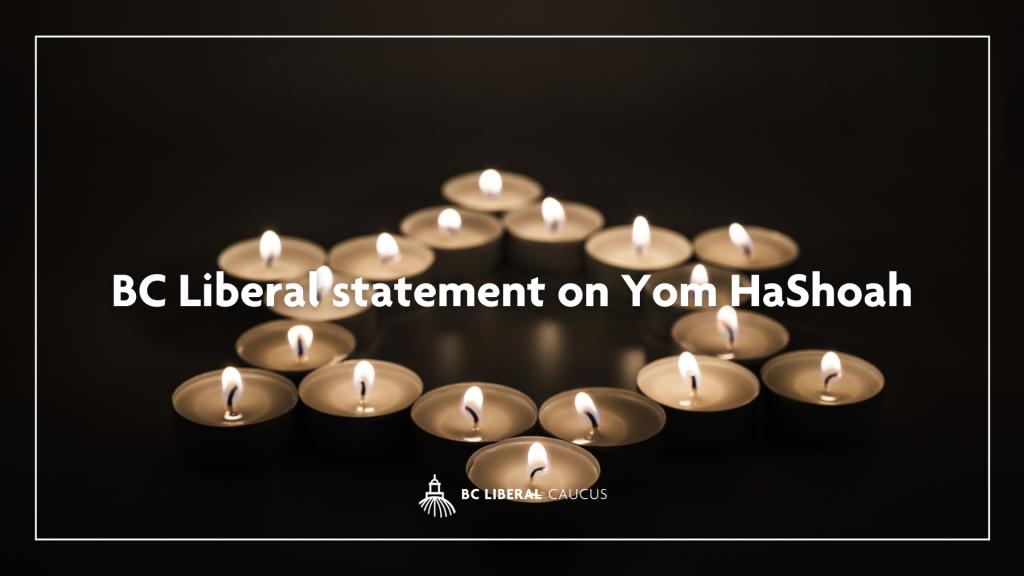 BC Liberal statement on Yom HaShoah