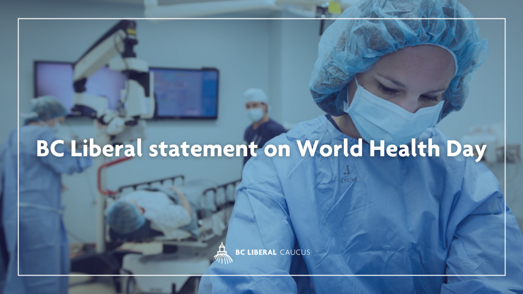 BC Liberal statement on World Health Day