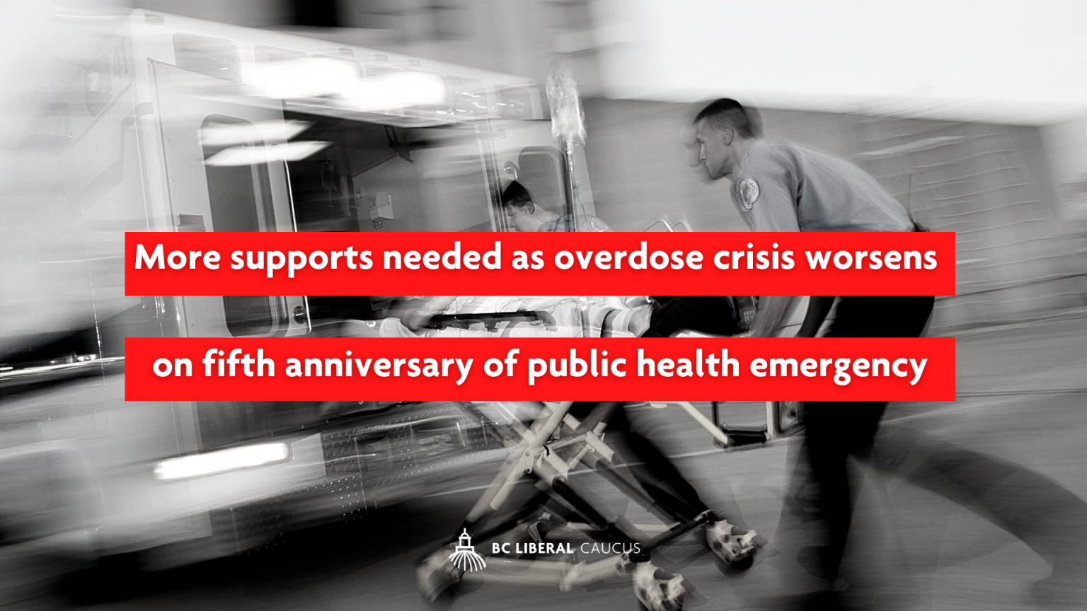 More supports needed as overdose crisis worsens on fifth anniversary of public health emergency