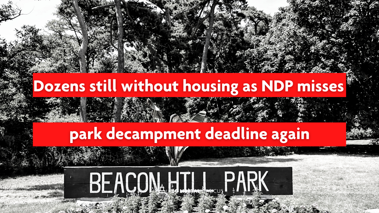Dozens still without housing as NDP misses park decampment deadline again