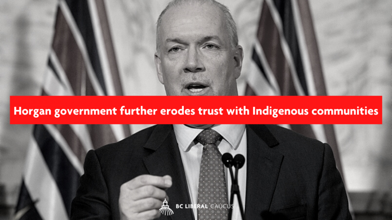 Horgan government further erodes trust with Indigenous communities