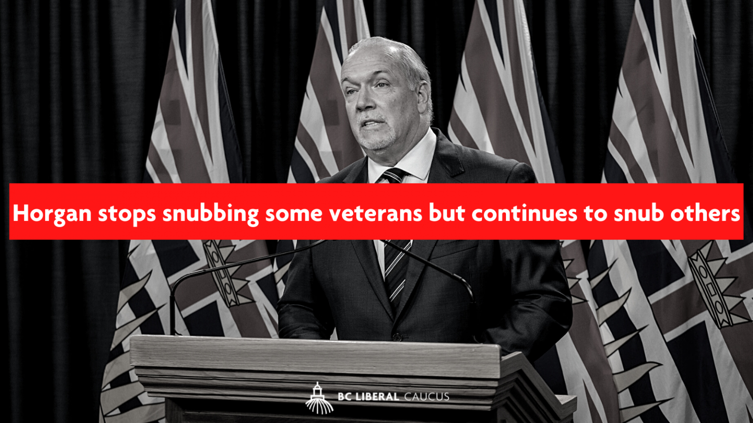 Horgan stops snubbing some veterans but continues to snub others