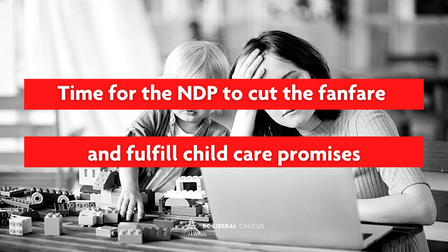 Time for the NDP to cut the fanfare and fulfill child care promises