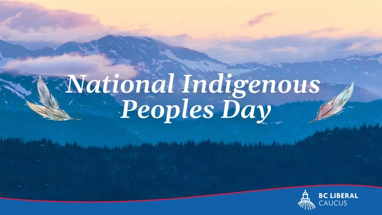 BC Liberal statement on National Indigenous Peoples Day