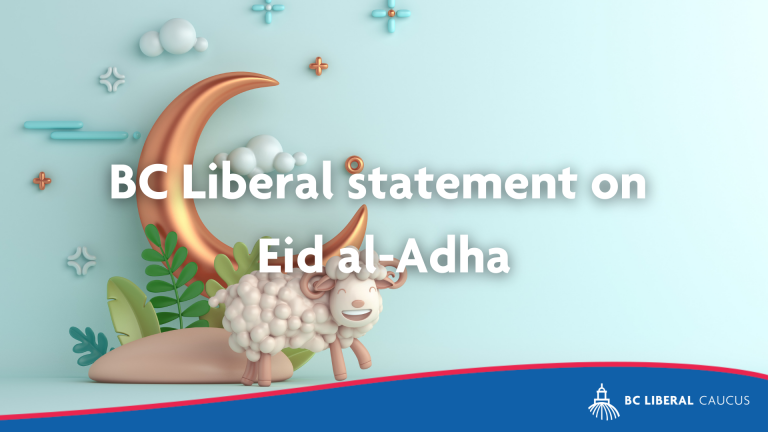 BC Liberal Statement on Eid al-Adha