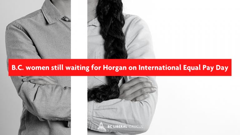 B.C. women still waiting for Horgan on International Equal Pay Day