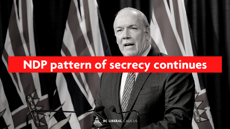 NDP pattern of secrecy continues