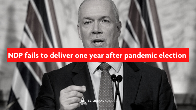 NDP fails to deliver one year after pandemic election