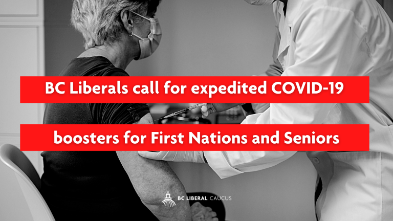 BC Liberals call for expedited COVID-19 boosters for First Nations and Seniors